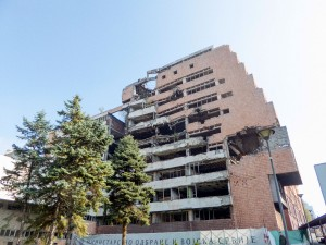 Buildings bombed by NATO